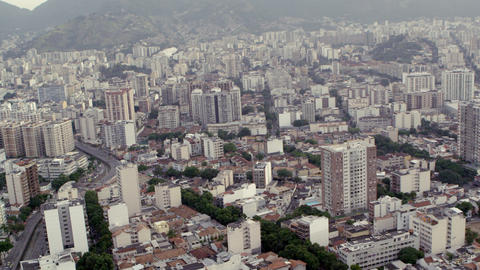 Urban Rio de Janeiro from helicopter Footage