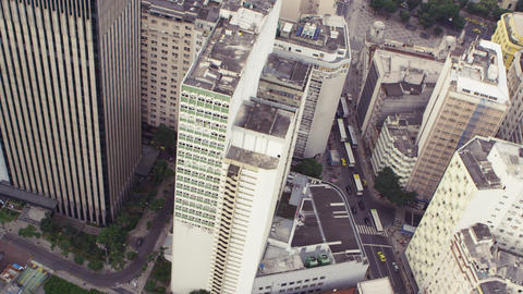 Aerial shot of downtown Rio de Janeiro, Brazil Footage