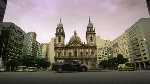 Candelaria Church in Rio de Janeiro, Brazil Footage