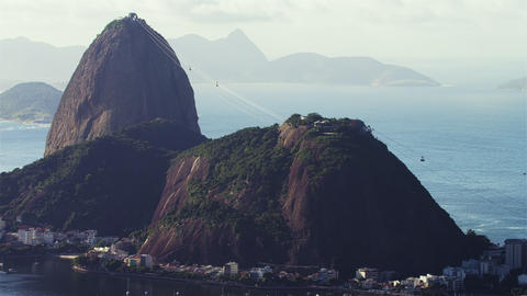 Dramatic Sugarloaf mountain footage Footage