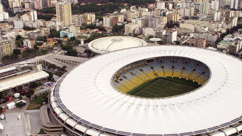 Aerial Footage Of Rio De Janeiro And World Cup Sta stock footage