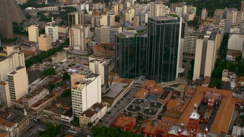 Aerial shot of landmarks - Rio de Janeiro, Brazil Footage