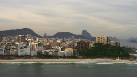 Aerial shot of Rio de Janiero from sea Footage