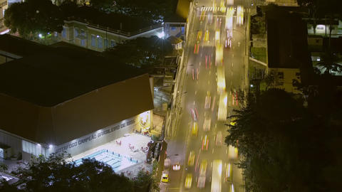 Time lapse above busy street with traffic in Rio de Janeiro, Brazil Footage