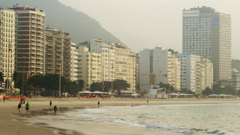 Tall buildings along the coast of Rio de Janeiro, Brazil Footage