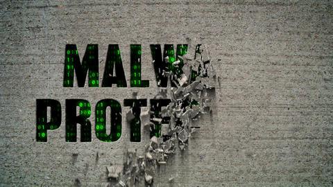 Malware Protection Crumbling Wall Animation