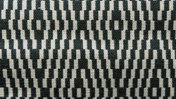 Chequered black and white fabric texture HD stock  Footage