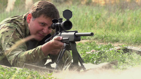 Sniper Shot stock footage