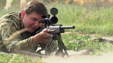 Sniper Shot Footage