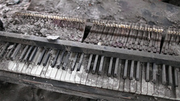 broken piano music of war Footage