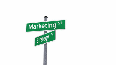 Marketing Strategy Issue stock footage