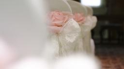 Pink Silk Rose Wedding Theme Stock Footage stock footage