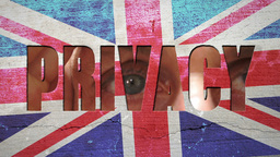 Spying Eyes Crumbling Wall Great Britain Footage