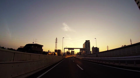 PoV Driving Tokyo In The Morning stock footage