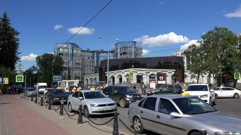 subway Krestovsky island In St. Petersburg. 4K Footage