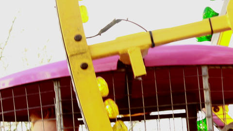 Carousel At Birmingham Chinese New Year Festival 2 stock footage