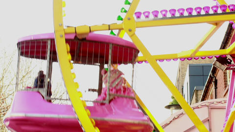 Carousel At Birmingham Chinese New Year Festival 4 stock footage