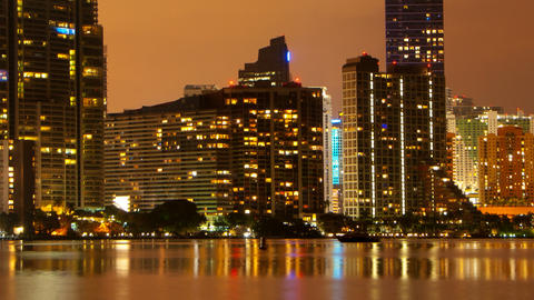 Miami skyline pan Footage