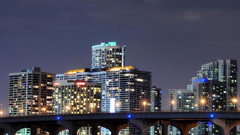Miami skyline Footage