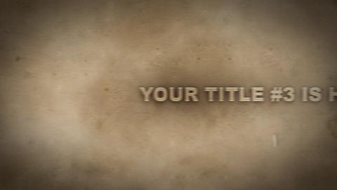 Sand Titles After Effects Template