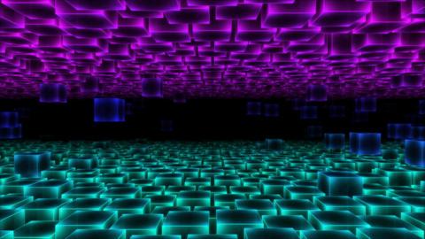 Abstract Moving Blocks - Loop Animation