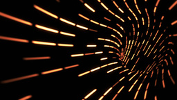 Looping animation of a wormhole, orange lights Animation