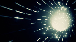 Looping animation of a wormhole, blue lights and s Animation