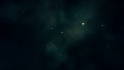 Traveling through stars and nebulas. D Animation