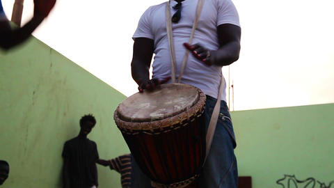 percussionist in Boa Vista Footage