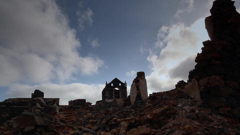 ruin of a a church on Boa Vista Footage