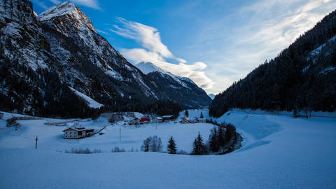 Snowy Mountains stock footage