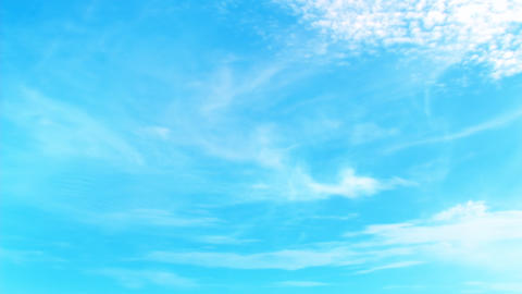 FullHD 3D bright blue sky animation with perfectly moving... Stock Video Footage