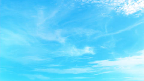 FullHD 3D bright blue sky animation with perfectly moving Cirrus Animation