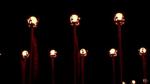 Red lanterns at night Stock Video Footage