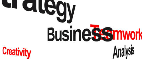 Business keywords animation Animation