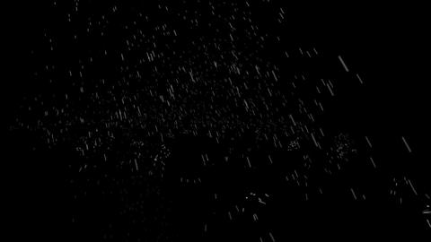Raindrops fall over the black screen Stock Video Footage
