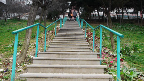 Stairs Stock Video Footage