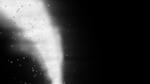 Slow cyclone - with particles Stock Video Footage
