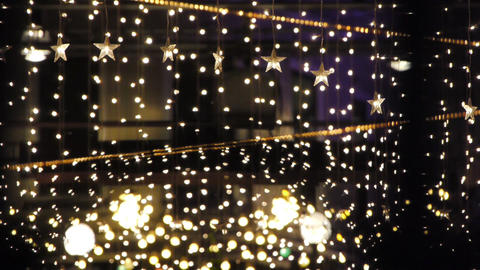 Decorated Night Club Stock Video Footage