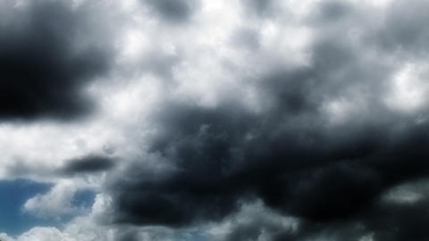 Moody Storm Clouds Stock Video Footage