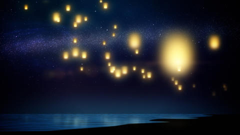 Sky lanterns Stock Video Footage