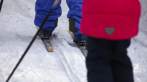 Ski trip Stock Video Footage