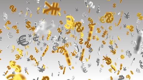 Money Symbol 2A dollar Euro Yen w Stock Video Footage