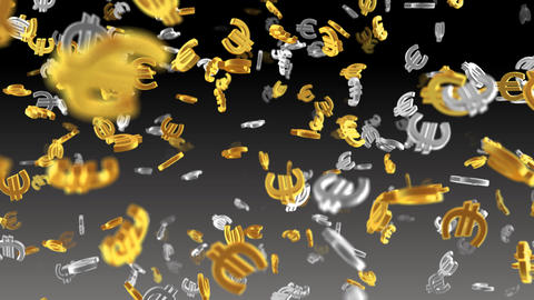 Money Symbol 2A Euro b Stock Video Footage