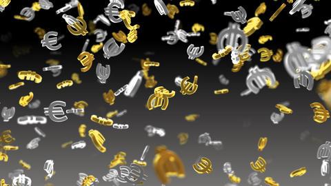 Money Symbol 2B Euro b Stock Video Footage