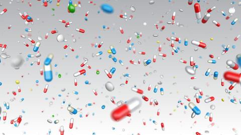 Medicine Drug 2aW Capsule Tablet pills Stock Video Footage