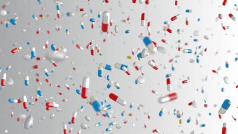 Medicine Drug 2bW Capsule Tablet pills Stock Video Footage