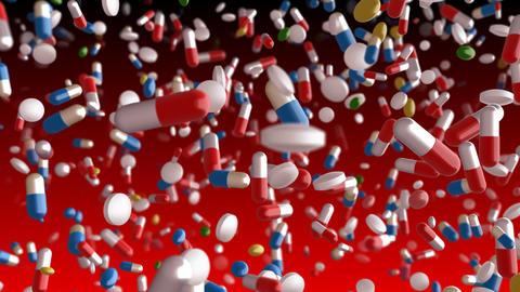 Medicine Drug 2dR Capsule Tablet pills Animation