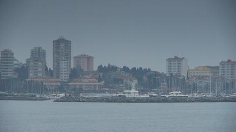 Cloudy coast Stock Video Footage