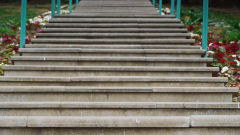 Stairs. Focus defocus Stock Video Footage